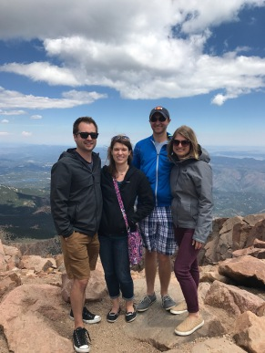 Made it to the top with my, husband, sister and brother-in-law.