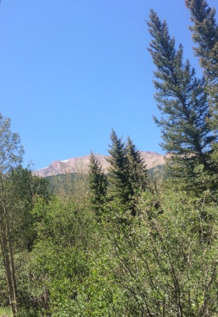 View of the Peak on the Way Up